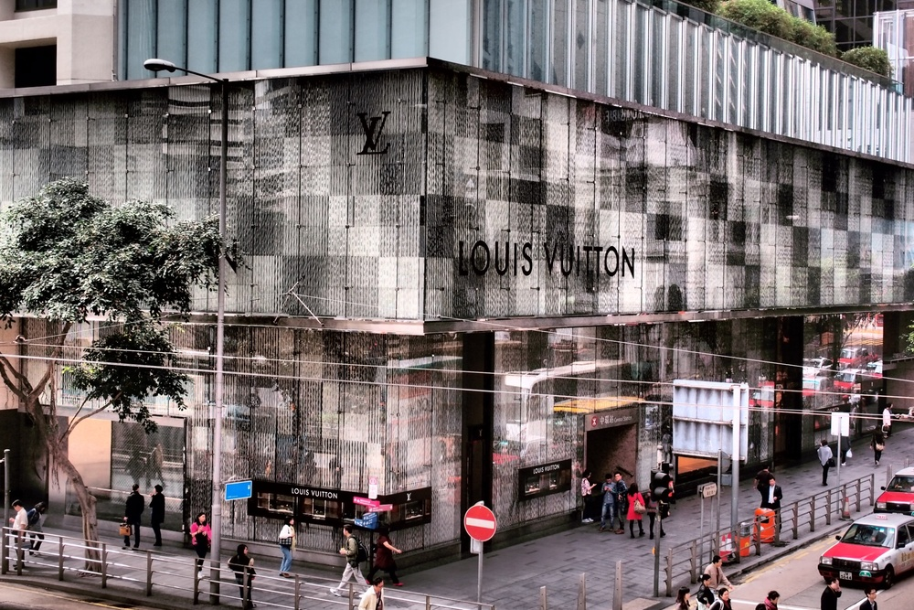 The Louis Vuitton flagship store at the Landmark in Central District.
