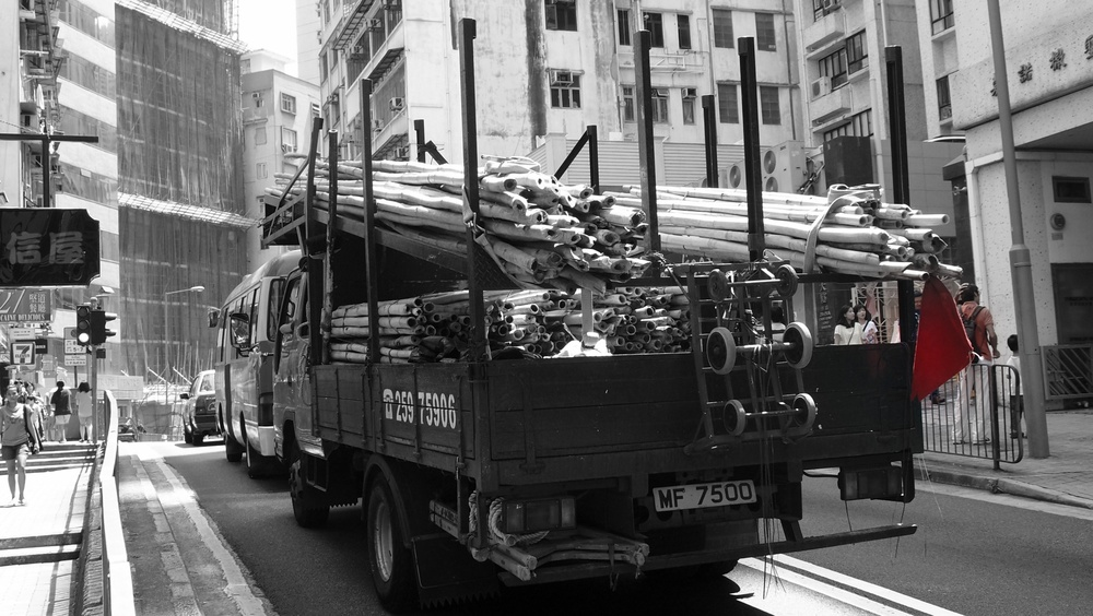 Here are some useless facts - we have about 1,800 people qualified to assemble / remove bamboo scaffolding and HK imports about 5 million bamboo rods a year., so now you know.