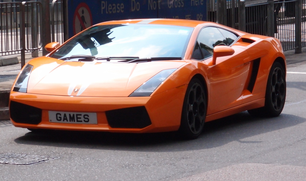 A very sweet Lamborghini and impressive number plate