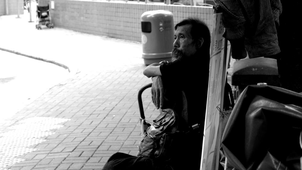 Quiet contemplation in Mongkok