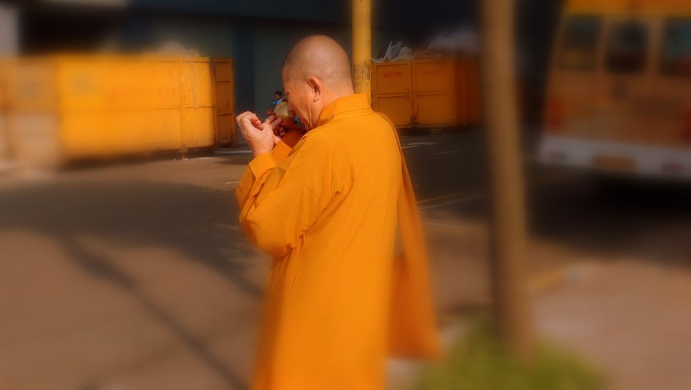 Whilst the fake monks have every reason to smile.