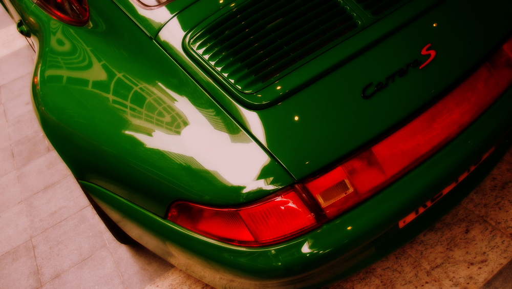 A rather odd green Porsche Carrera