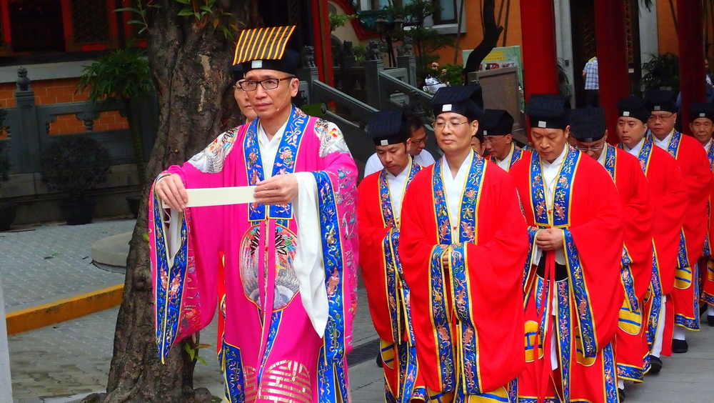 A rather solemn ceremony at the Sik Sik Yuen Wong Tai Sin Temple