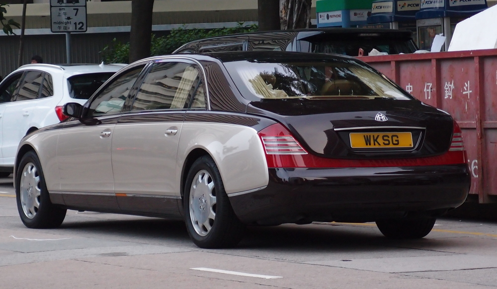 A gazillionaires Maybach with a personalised number plate