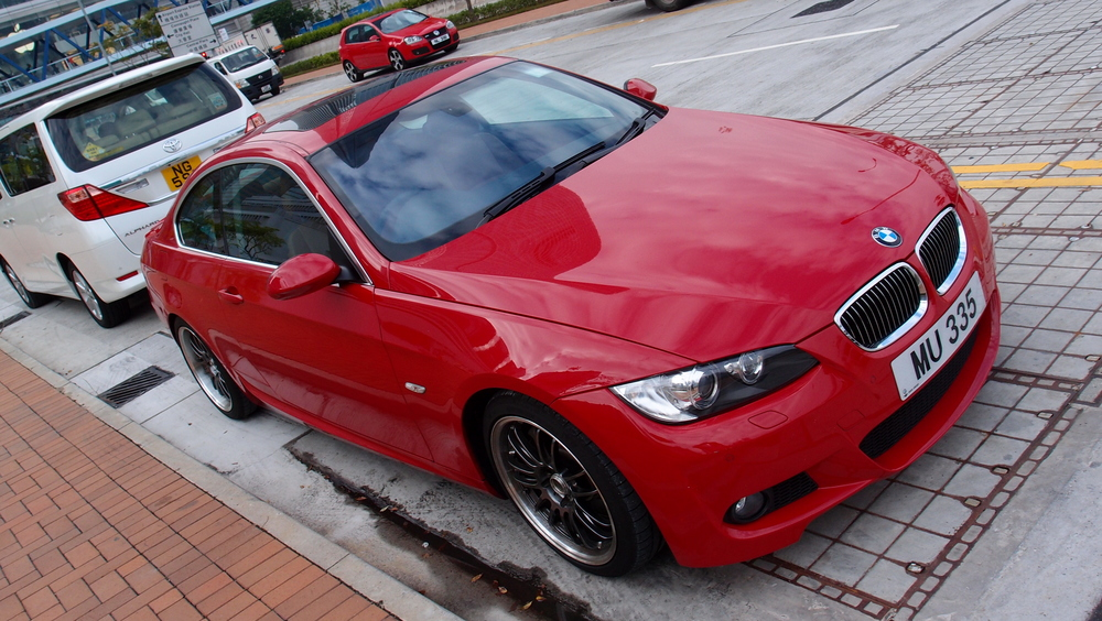 A lovely red Beamer