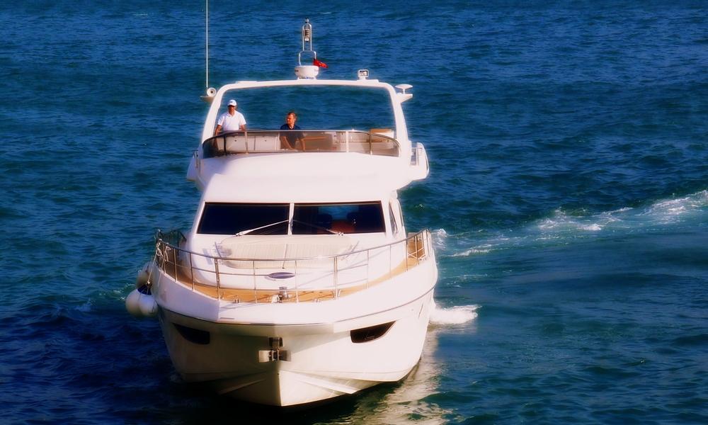 Nice boat, it's not mine!