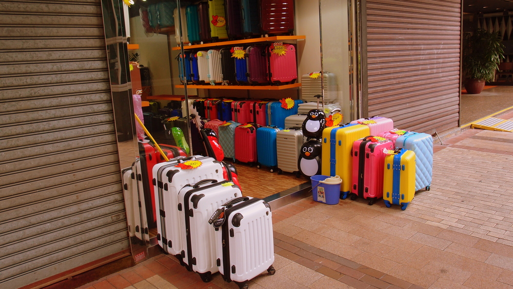 Mainland Chinese visitors go shopping with suitcases so every Tom, Dick and Harry now sells suitcases, we are probably the suitcase capital of the world now.