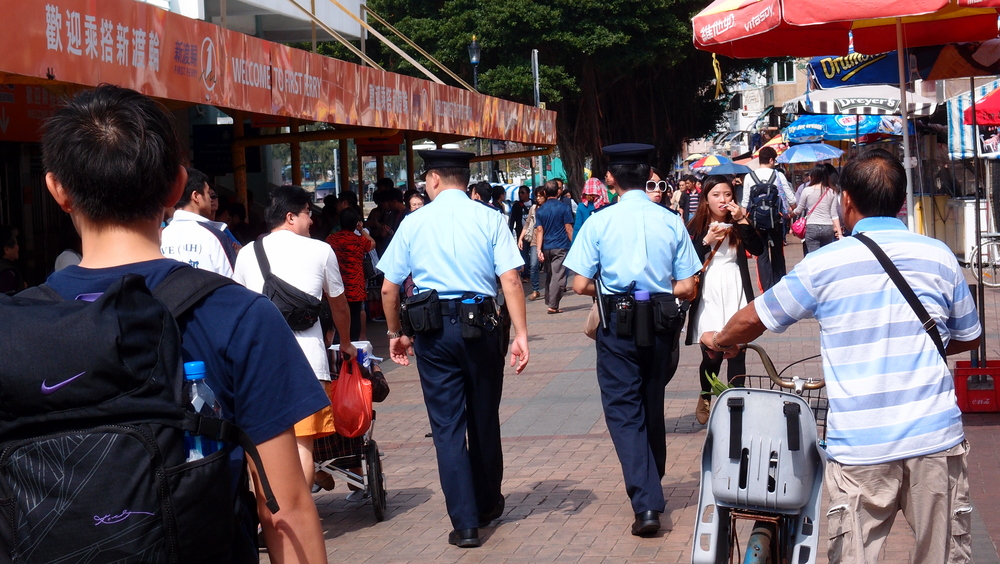 Coppers on the beat - Cheung Chau Island