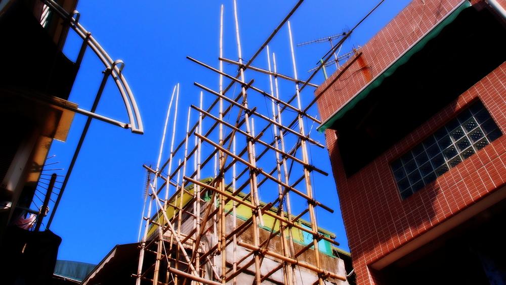Random bamboo scaffolding on Cheung Chau Island