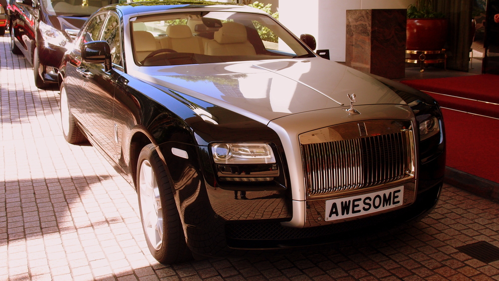 An awesome Rolls Royce