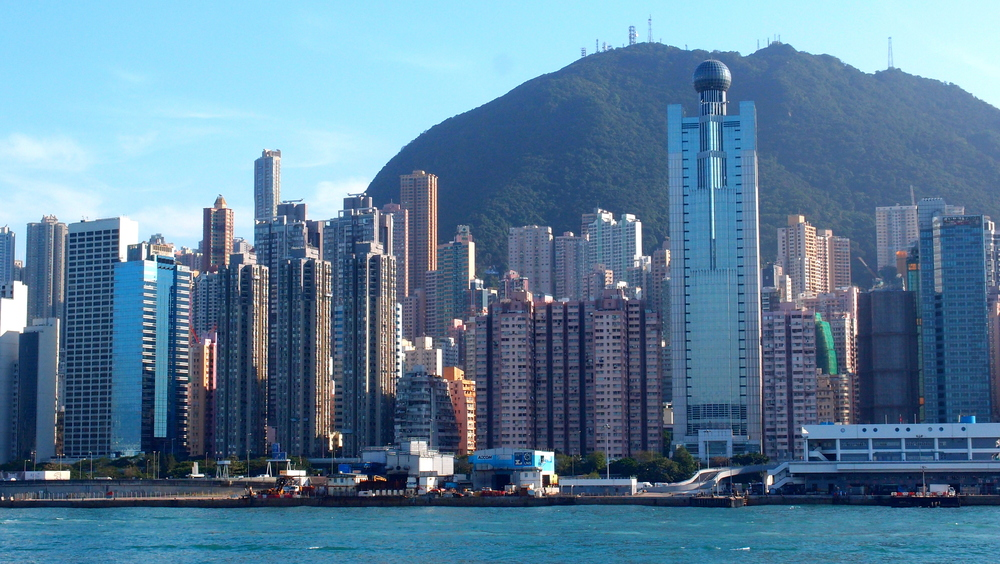 Western District on Hong Kong Island with the Peak in the background
