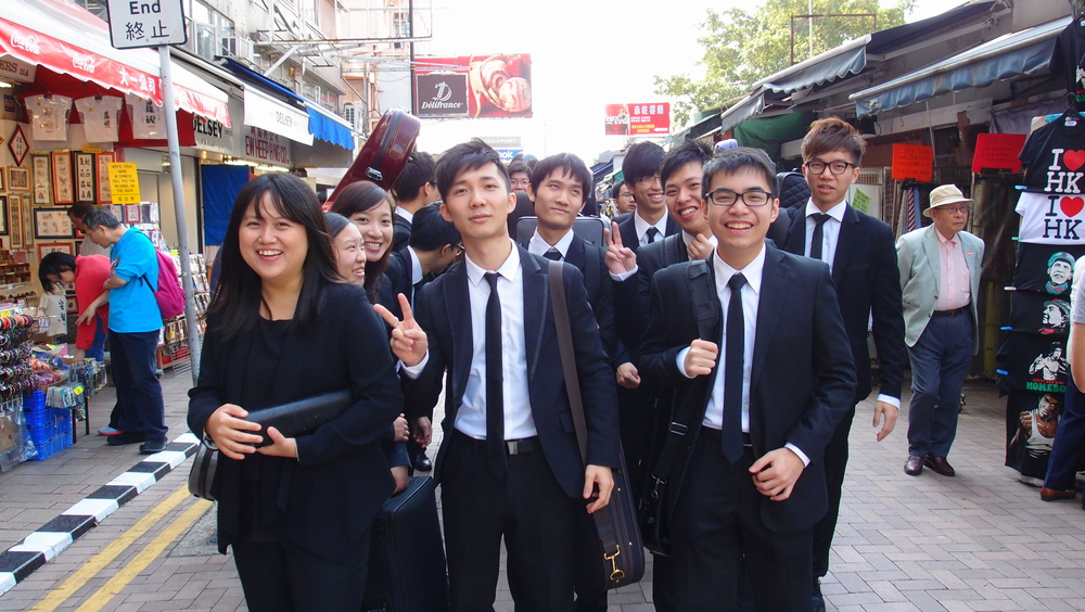 These young musicians were having publicity photo's taken in Stanley, they kindly posed for me as well