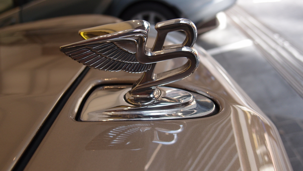 The famous Bentley Motorcar hood ornament
