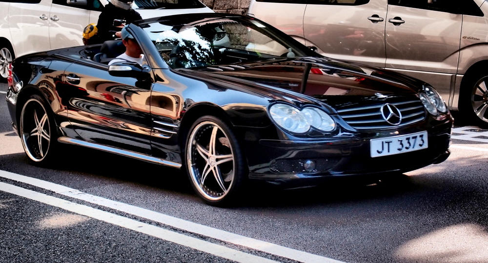 A very glossy Mercedes Benz