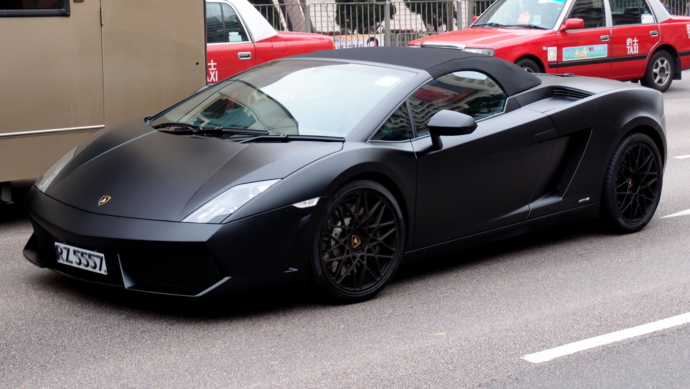 Oh lordy, a lovely matte Lamborghini - location, Salisbury Road in TST, Kowloon