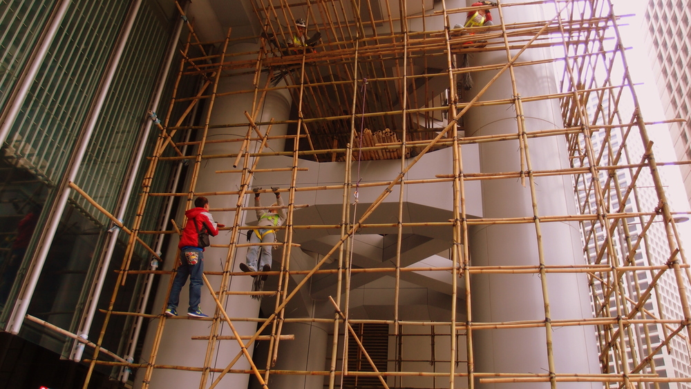 We lose 4 or 5 guys who assemble the bamboo scaffolding a year because they do not attach the safety rope supplied.