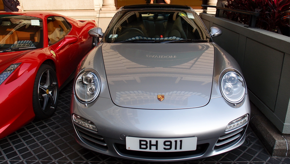 Porsche day at the Peninsula Hotel