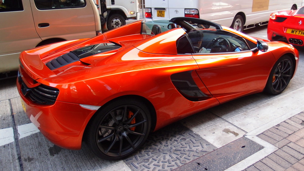 Burnt orange McLaren supercar