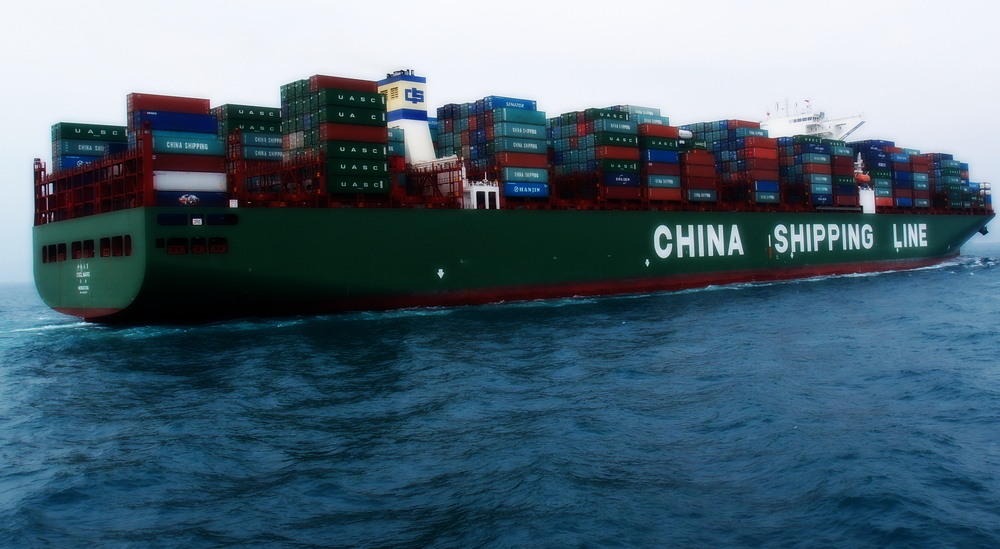 This one does! a monster container ship