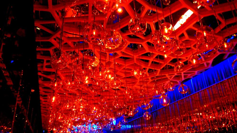 The very cool Ozone bar in the Ritz Carlton Hotel Hong Kong