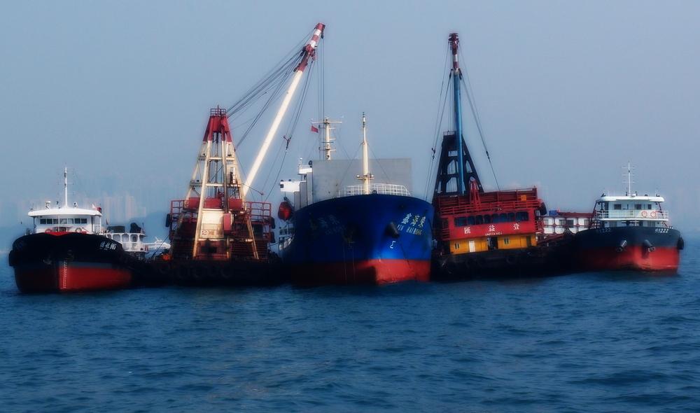 Ships in Hong Kong harbour
