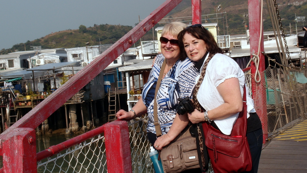 Meet Helena and Sue, my clients from Canada, enjoying a warm sunny day at the Tai O Fishing Village.