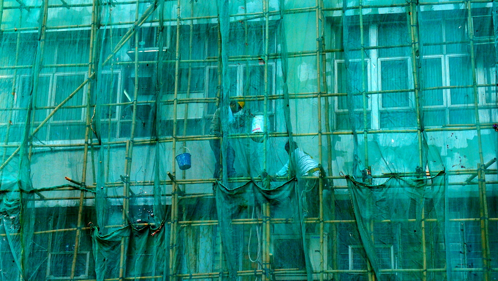 Spotted these chaps working fairly high up on the bamboo scaffolding in San Po Kong - looks dangerous to me....
