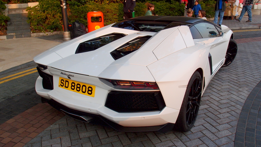 Magnificent Lamborghini with lucky number plate