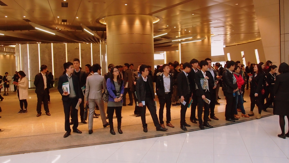 Property agents are having a hard time at the moment ( no one is shedding a tear for them ) and they now swarm on a daily basis at IFC Mall hoping to find buyers, most of them look very shifty and you probably would not want to purchase a multi million $ apartment from anyone of them....