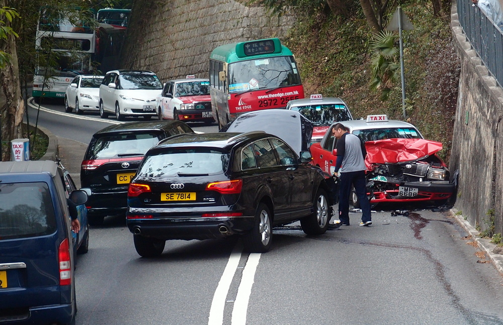 Diary of a major traffic accident on Peak Road heading to the Peak ...