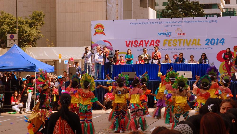 Ethnic dancers in Statue Square