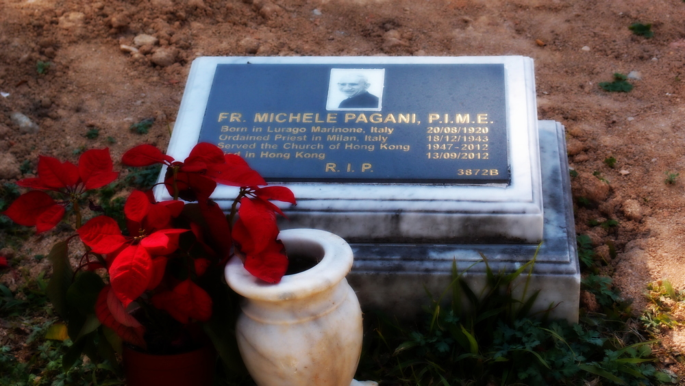 A Catholic Priest who died in Hong Kong - his grave is at St. Michael's Catholic Cemetery in Happy Valley