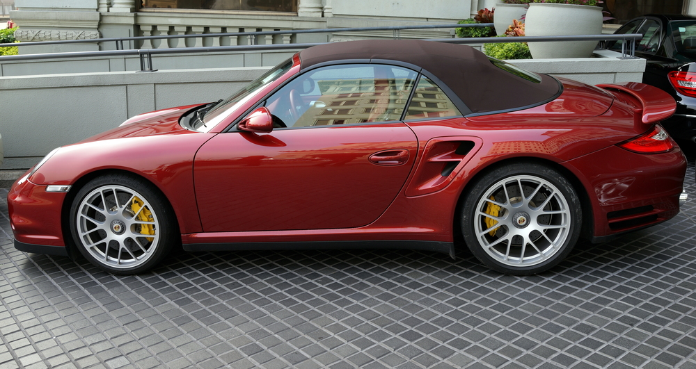 My favourite car, the Porsche Turbo S - the Peninsula Hotel is always a good place for car spotting