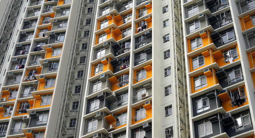 Apartment block in Shek Kip Mei in Kowloon