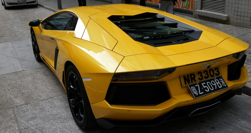 Odd colour for a Lamborghini