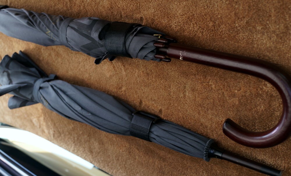 Umbrella's in the boot (trunk)