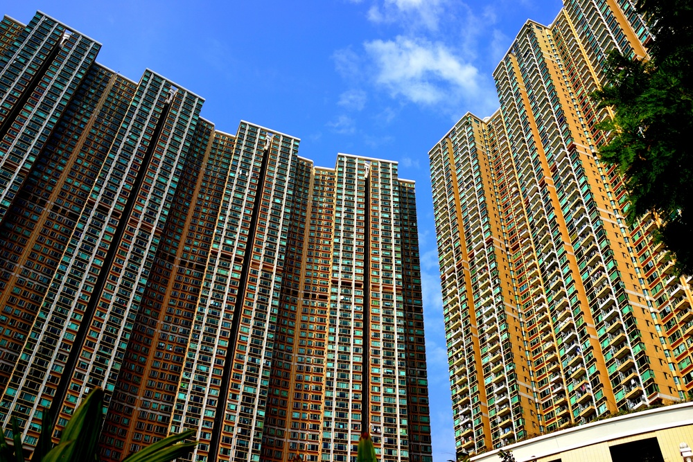 Middle class living, Bellagio, the huge apartment blocks in Sham Tseng in the NT