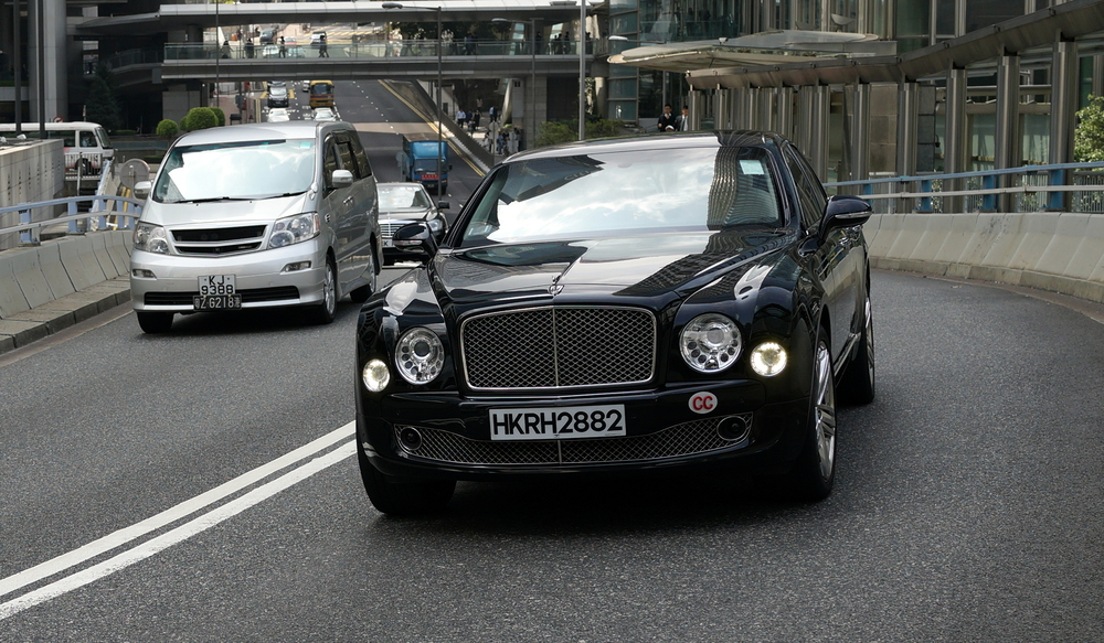 A diplomats car, a very nice Bentley