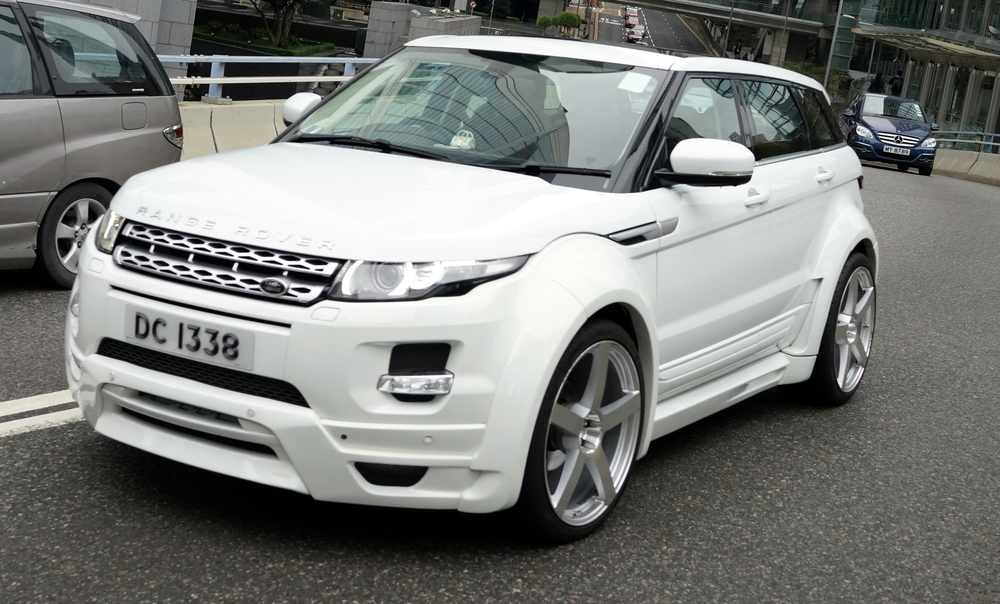 A pimped out Range Rover -