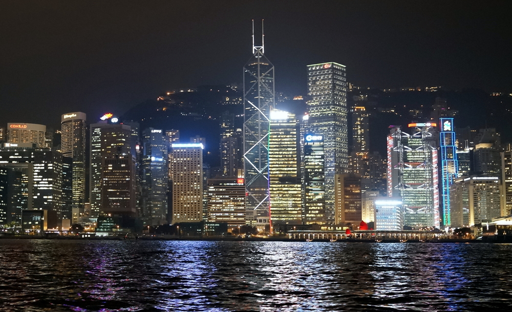 A view of Hong Kong Island from on board the Star Ferry