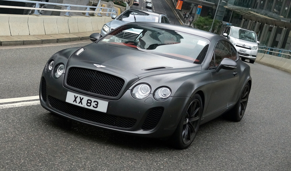 A very, very sweet motor car - the Bentley Continental GT with matte paint