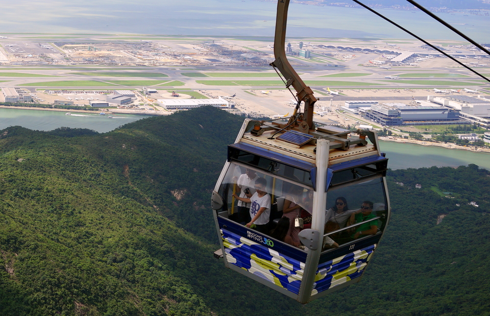 The brilliant cable car ride to the Big Buddha on Lantau Island.