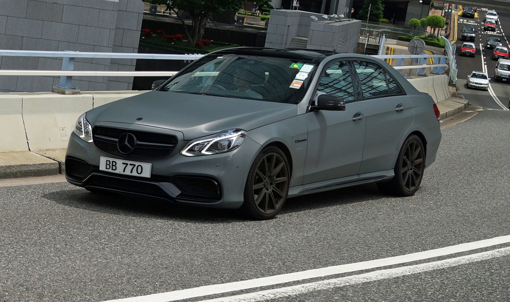 Sometimes a matte paint job works, on this Mercedes Benz it is simply glorious