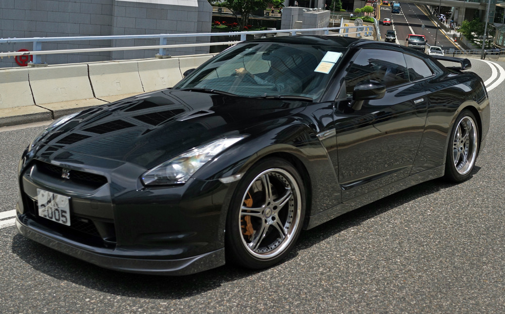 The only Japanese car I like - the rather brutish Nissan GTR