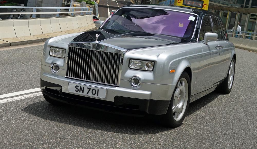 The rather elegant Rolls Royce Phantom