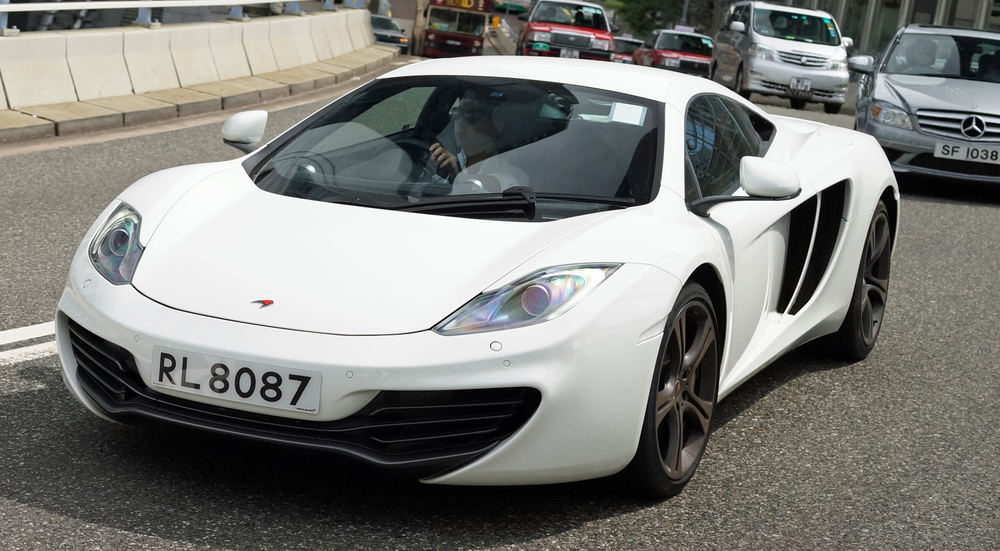 ....and to finish a glorious white McLaren
