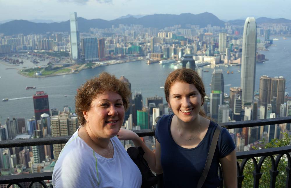 Meet the Browns - Eden Rose and daughter Natalie enjoying the great view from my spot at the Peak