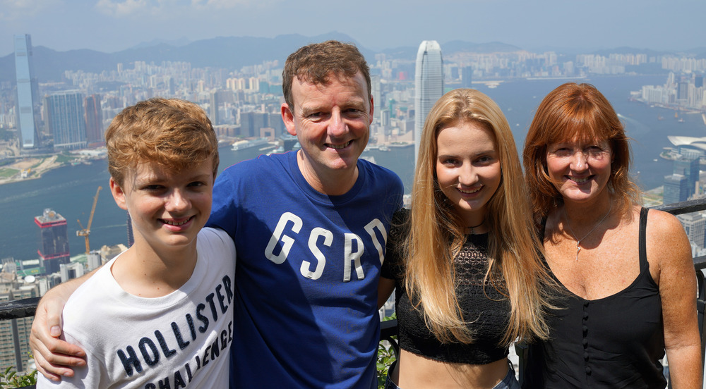 Meet the Patersons's, enjoying a couple of days in Hong Kong before jetting off to Bali