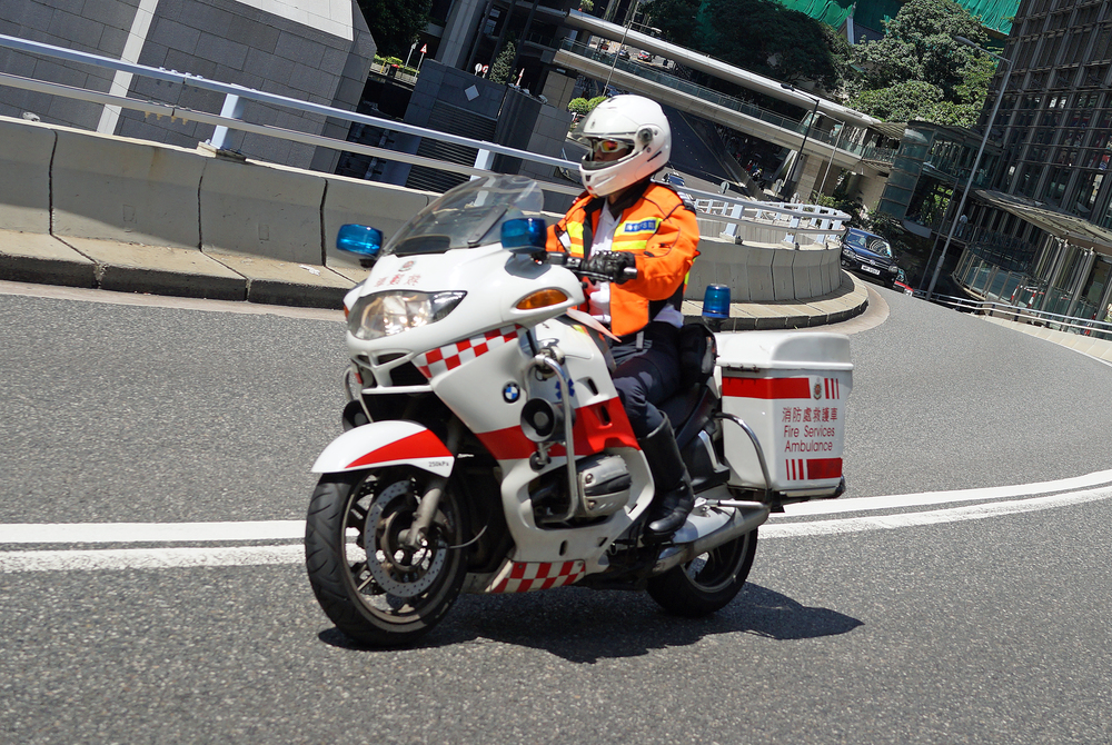 I think the Ambulance guys on these BMW Bikes look pretty cool.....