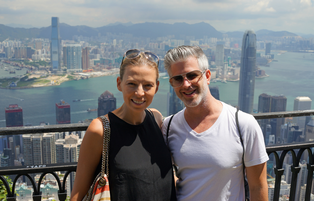 Mark and Diana (who I thought were A List Hollywood Movie Stars!!) also from the USA at the Peak, Hong Kong.